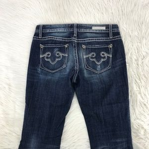 Rerock For Express Women Boot Jeans Sz 6 X 32 Y7
